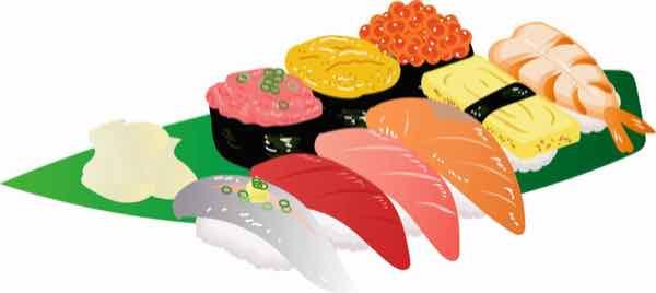 暑い日はすっきりサッパリで寿司
